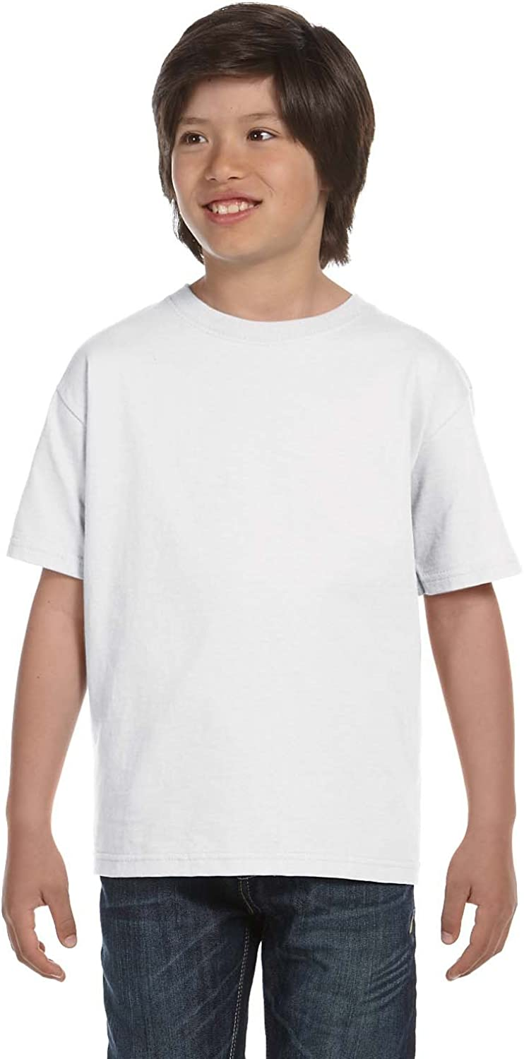 By Hanes Youth 61 Oz BEEFY-T - White - S - (Style # 5380 - Original Label)