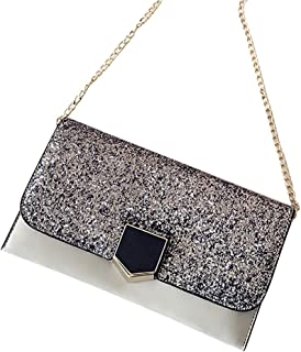 COAFIT Women's Shoulder Purse Elegant Glitter Metal Buckle Fashion Clutch Bag