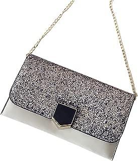 Bageek Women Shoulder Purse Crossbody Bag Elegant Glitter Metal Buckle Clutch Bag for Travel