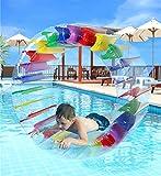 Greenco Kids Colorful Inflatable Water Wheel Roller Float 52' Diameter