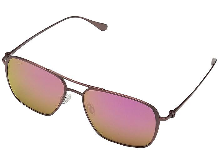 Beaches (Matte Brushed Burgundy/Maui Sunrise) Fashion Sunglasses