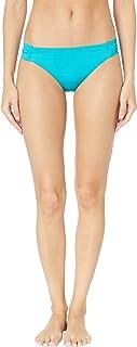 Trina Turk Womens TT8BF90 Getaway Solids Shirred Side Hipster Pant Bikini Bottom Bikini Bottoms
