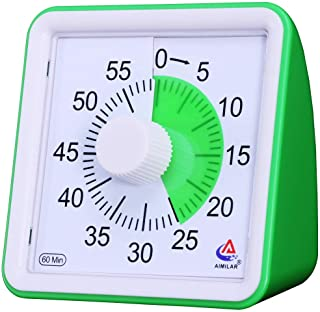 AIMILAR 60 Minute Visual Timer - Silent Timer Time Management Tool for Classroom or Meeting Countdown Clock for Kids and A...