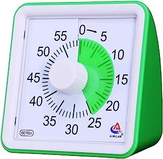 AIMILAR Temporizador visual de 60 minutos, herramienta de gestión de tiempo silenciosa, para aula o reuniones, reloj de cuenta atrás para niños y adultos verde