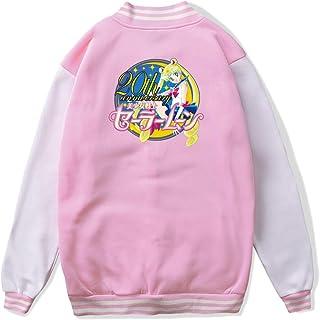 VJJ AIDEAR Funny Sailor Moon Baseball Uniform Jacket Sport Coat Kids Long Sleeve Hoodie Sweatshirt Black