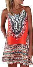 Xavigio_Women Dresses Women's Summer Bohemian Floral Print Strap Sleeveless Casual A-Line Mini Maxi Sundress