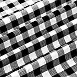 Plaid Fabric 56 x 36 Inch Plaid Cloth White-Black Plaid Design Fabric for Sewing DIY Home Party Festival Decorations