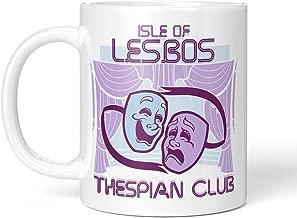 Tenacitee Isle of Lesbos Thesbian Club Coffee Mug, 11oz, White