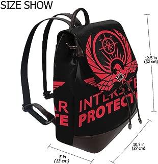 Altered Carbon Interstellar Protectorate Fashion Design Leather Backpack For Women Men College School Bookbag Weekend Travel Daypack