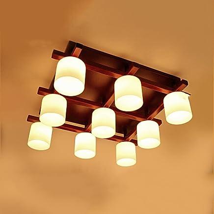 Amazon.es: lamparas plafon madera - Lámpara de techo ...