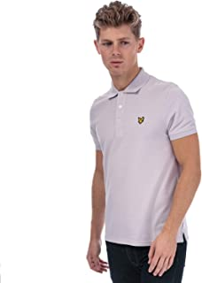 Lyle And Scott Mens Plain Polo Shirt in Lilac.