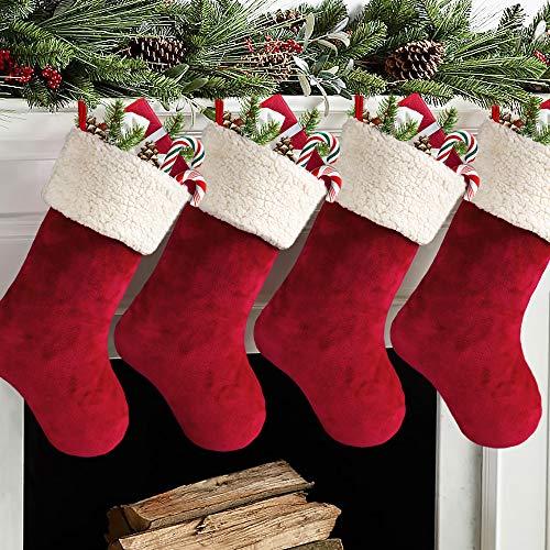 Meriwoods Christmas Stockings 4 Pack 18 Inch