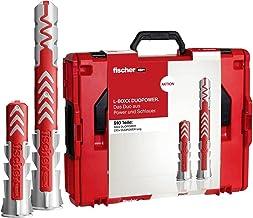 fischer L-BOXX 102 Duopower Universele pluggen, krachtige 2-componenten pluggen, kunststof pluggen voor bevestiging in bet...