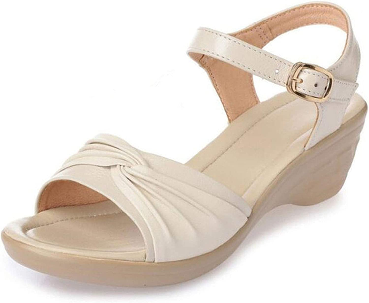 TZJY-Store 2019 New Summer Sandals Genuine Leather Open Toe Sandals Comfortable Sandals