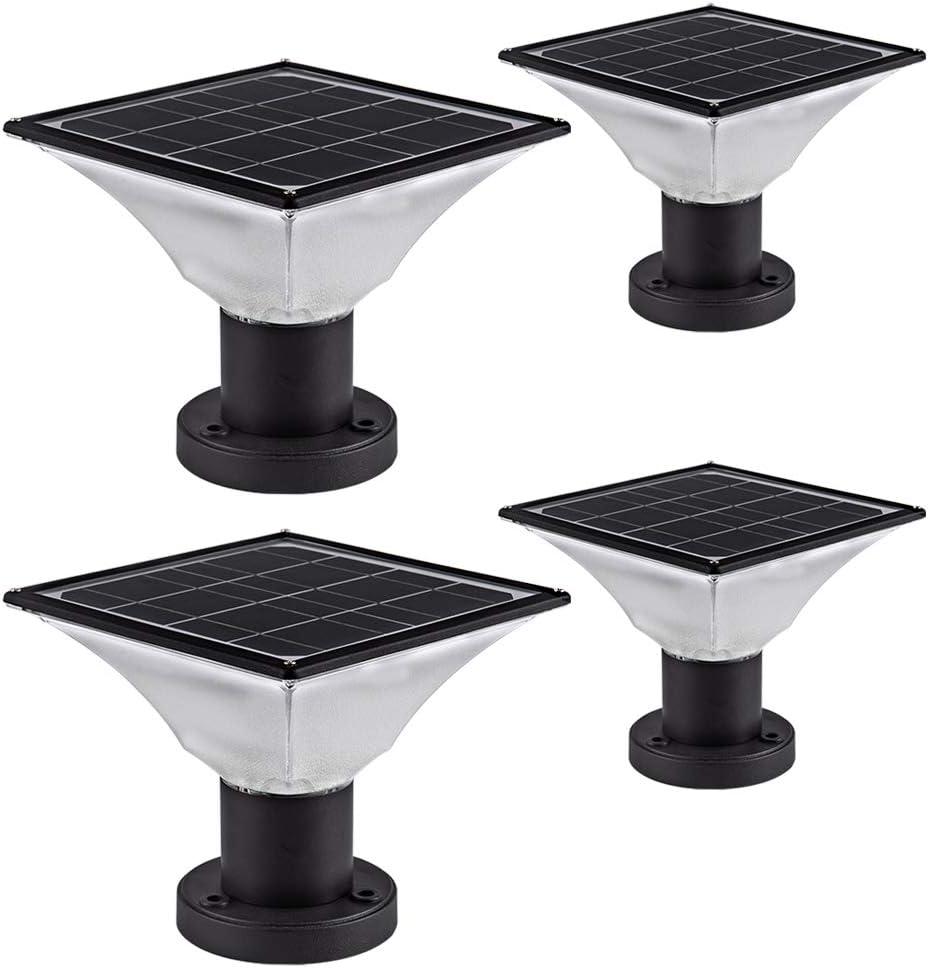 Solar LED Post Cap Lights Outdoor Powered – Washington Mall Super-cheap Deck