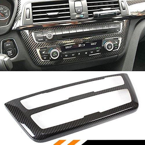 Cuztom Tuning Fits for 2014-19 BMW M3 M4 & 2012-2018 BMW F30 F32 F33 F36 CD AC Console Control Panel Carbon Fiber Trim Hard Cover