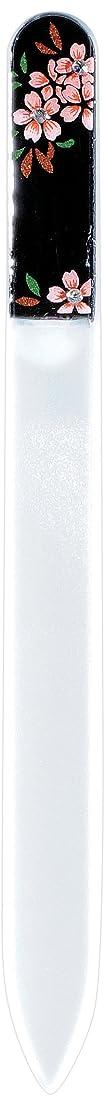シンボル政治家の好意橋本漆芸 ブラジェク製高級爪ヤスリ スワロフスキー桜 紙箱