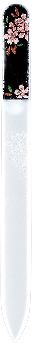 軍ラベル悲劇橋本漆芸 ブラジェク製高級爪ヤスリ スワロフスキー桜 紙箱