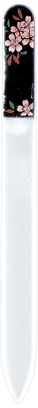 失速チャレンジスパイ橋本漆芸 ブラジェク製高級爪ヤスリ スワロフスキー桜 紙箱
