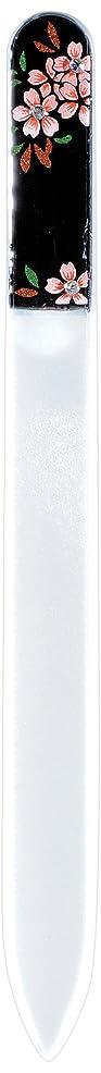 マリンアンタゴニストそうでなければ橋本漆芸 ブラジェク製高級爪ヤスリ スワロフスキー桜 紙箱