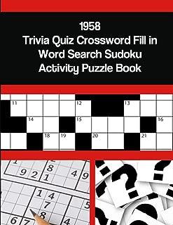 1958 Trivia Quiz Crossword Fill in Word Search Sudoku Activity Puzzle Book