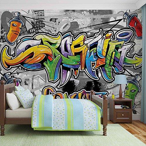 Graffiti Street Art - Forwall - Fototapete - Tapete - Fotomural - Mural Wandbild - (2295WM) - XXL - 312cm x 219cm - VLIES (EasyInstall) - 3 Pieces