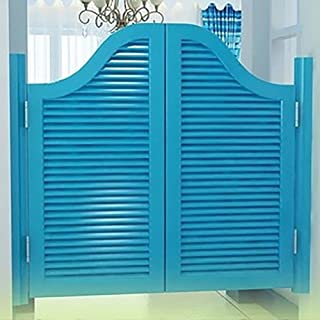GuoWei Louvered Swinging Door Solid Wooden Cafe Bar Indoor Entrance Kitchen Use, Customize (Color : B, Size : 90cmx90cm)