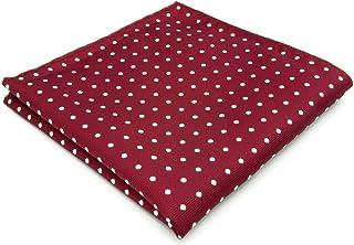 Shlax&Wing Boda Clásico Hombre Seda Pañuelo De Bolsillo Para Rojo Blanco Puntos 12.6