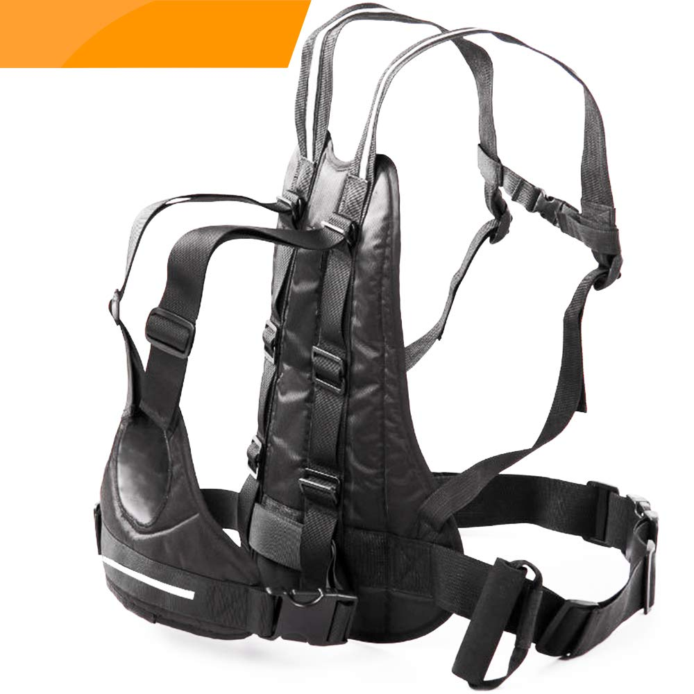 Jolik Child Motorcycle Harness Adjustable with Two Handles, Breathable Material in Black