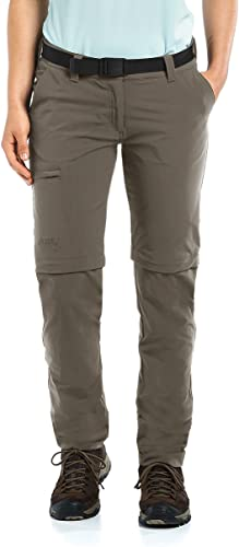 Maier Sports Pantalon de plein air Convertible en Inara Slim, Teck, 22, 233026