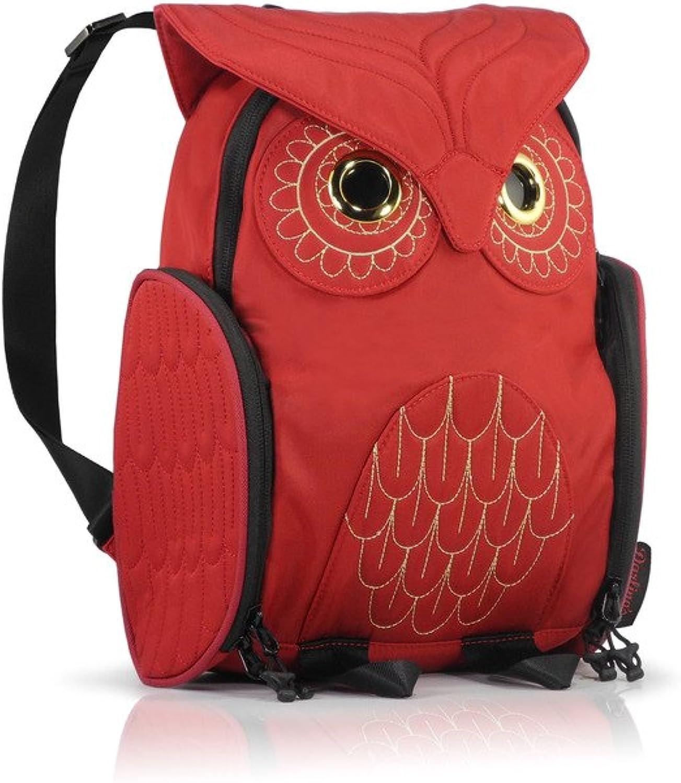 7811df7c5c52 Darling's Owl Lightweight Mini Backpack Red Water Resistant ...