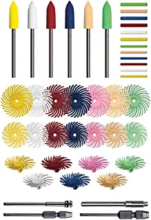 1 E-Z Loc Brushes Precision Thermoplastic Rotary Cleaning and Deburring Tool 10 Pack Coarse 80 Grit Dedeco Sunburst