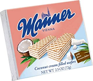 Manner Coconut Wafers, 2.54 Ounce (Pack of 12)