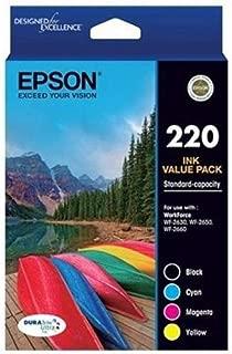 EPSON 220 Four Colour Std Value Pack (Black, Cyan, Magenta and Yellow)-Epson Workforce WF-2630, WF-2650 & WF-2660