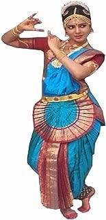 Sky Blue Bharatnatyam Dance Costume