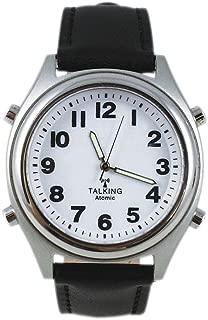 Talking Atomic Watch w/Illuminated Hands & Adjustable Genuine Leather Band