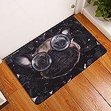 Rugs & Carpet Leedy - Alfombra antideslizante para dormitorio, sala de estar, baño, cocina, baño, cocina, baño, decoración del hogar, 60 x 40 cm, Franela, T, Medium