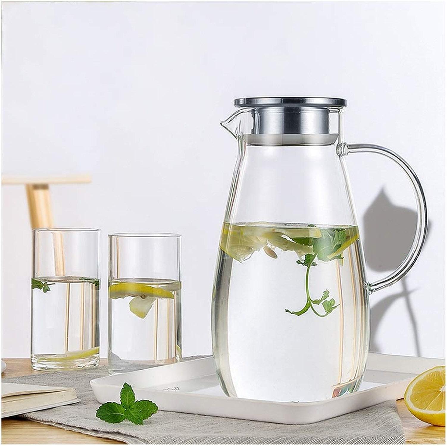 Verre à eau de refroidisseHommest Résistance à la chaleur à haute température for les ménages Bouteille d'eau froide grande capacité XINYALAMP (Taille   B)