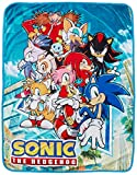 Great Eastern Entertainment Sonic The Hedgehog- Big Group Sublimation Throw Blanket 46' x 60'
