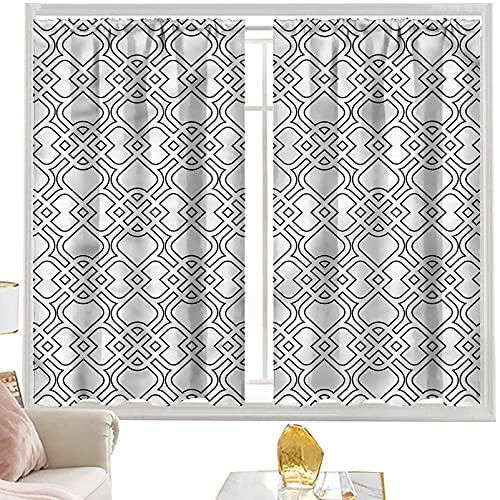 Trippy - Cortinas de bloque para dormitorio, diseño artístico de azulejos de 150 x 150 cm, para sala de estar