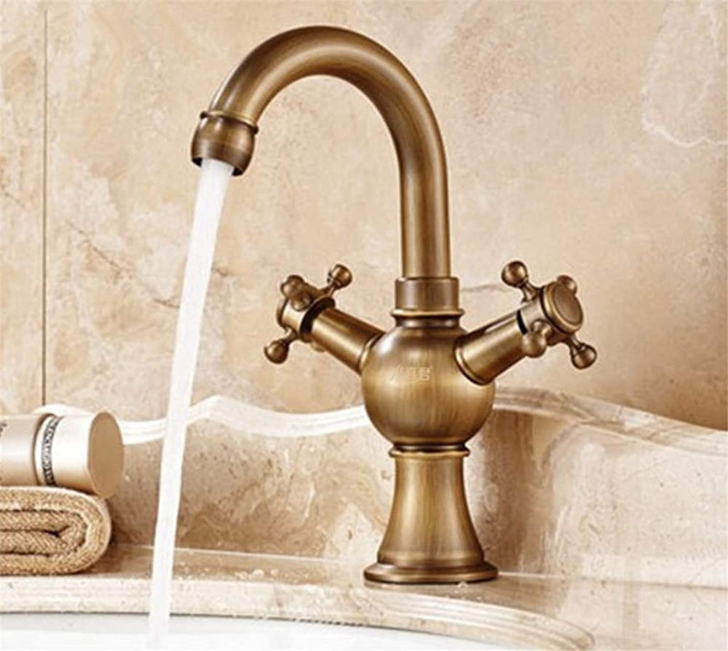 JONTON Faucet faucet faucet above counter basin copper antique hot and cold kitchen washing dishes washing dishes washing dishes wash mixed