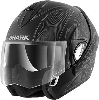 Shark Unisex-Adult Full Face Evoline 3 Mezcal Helmet (Matte Black Gray, Large)