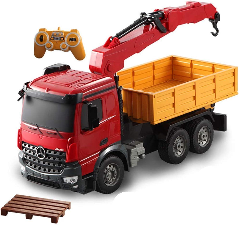 CZALBL Fernbedienungskran, wiederaufladbares elektrisches Fernbedienungsauto, technisches Spielzeugauto für Kinder, Entwicklung des übungsgehirns