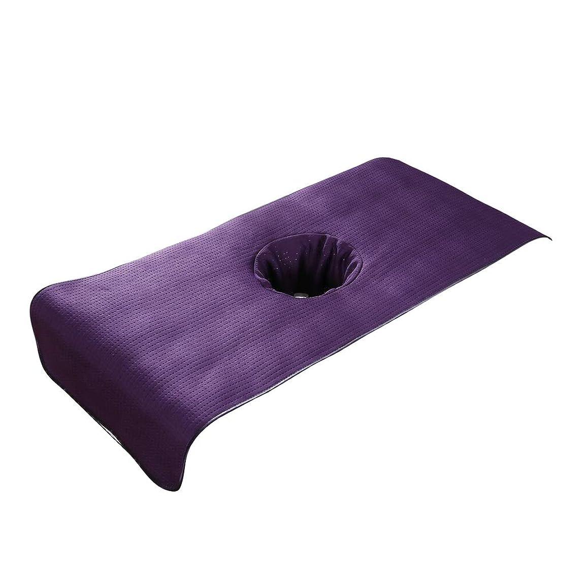 名門音楽家花嫁PETSOLA 高品質 マッサージベッドカバー 有孔 美容ベッドカバー マッサージテーブルスカート SPA ベッドシーツ - 紫