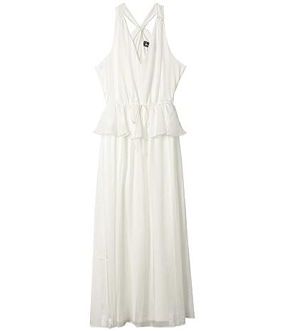 Sam Edelman Shadow Stripe Peplum (White) Women