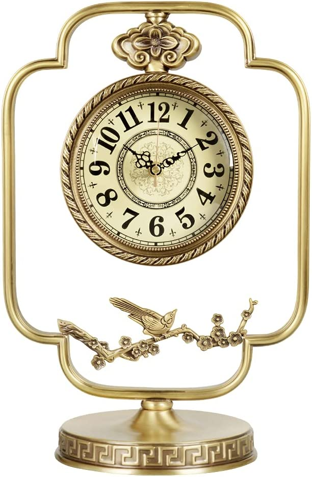Metal Fireplace Clock Arabic Ranking TOP2 Numerals Mantel Max 55% OFF Dial Livi for