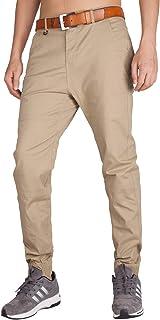 I.TALYMORN Men's Chino Jogger Casual Pants Jogging Khakis Slim Fit Elastic Cuff