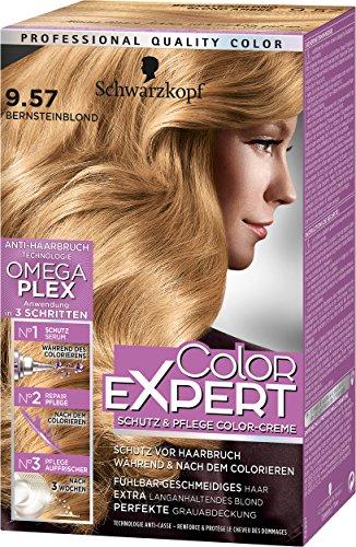 Schwarzkopf Color Expert Intensiv-Pflege Color-Creme, 9.57 Bernstein Blond Stufe 3, 3er Pack (3 x 167 ml)