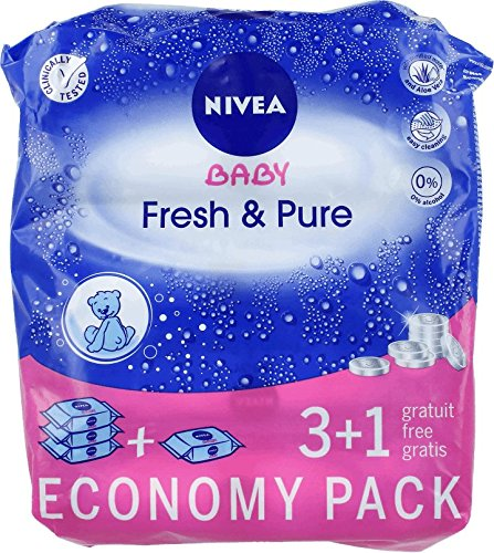Babywipes pure & fresh 63(4 pack) 4 unités