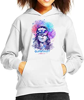 Water Colour Upside Down Stranger Things Kid's Hooded Sweatshirt